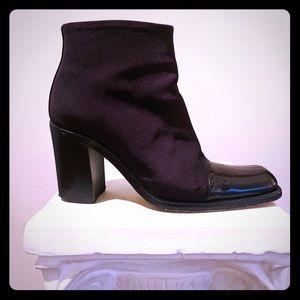 Timeless Via Spiga Italian Canvas Ankle Boot